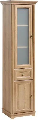Dulap baie inalt cu vitrina, 2 usi si 1 sertar, Palace Riviera, l43xA40xH185 cm
