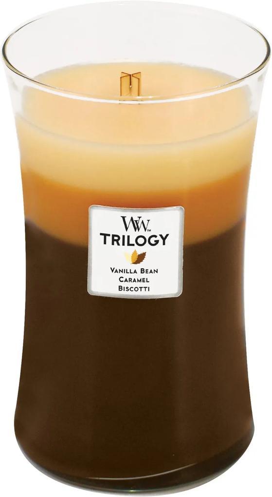 WoodWick lumânare parfumată Trilogy Café Sweets vaza mare