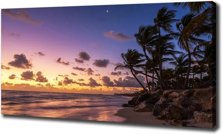 Imprimare tablou canvas Apus de soare pe plaja