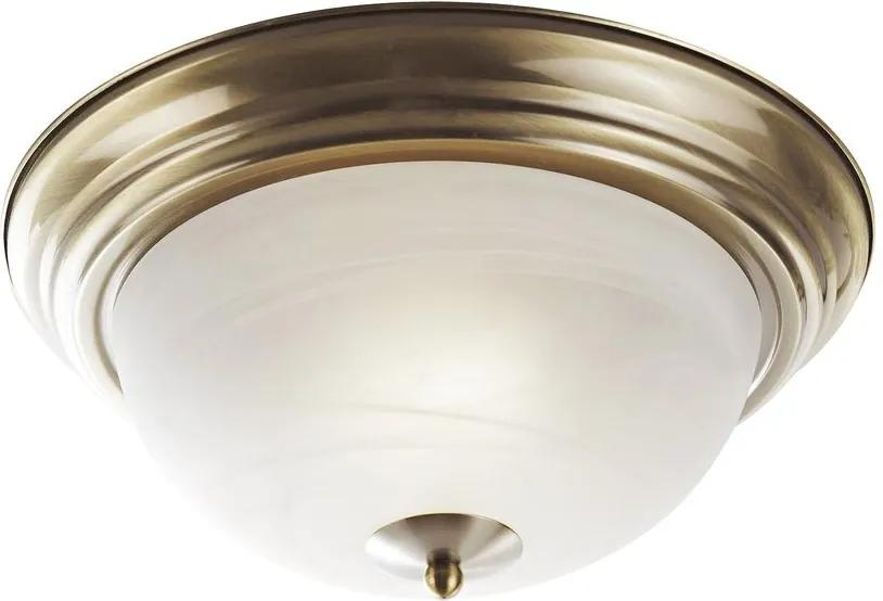Rábalux Top 2806 Plafoniere bronz alb E27 2x MAX 60W Ø280 mm