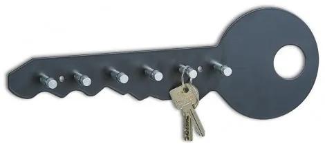 Suport pentru chei Colors, Metal, l35xA4xH12 cm-Negru