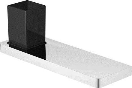 Polita 300mm cu pahar Steinberg seria 420 negru mat