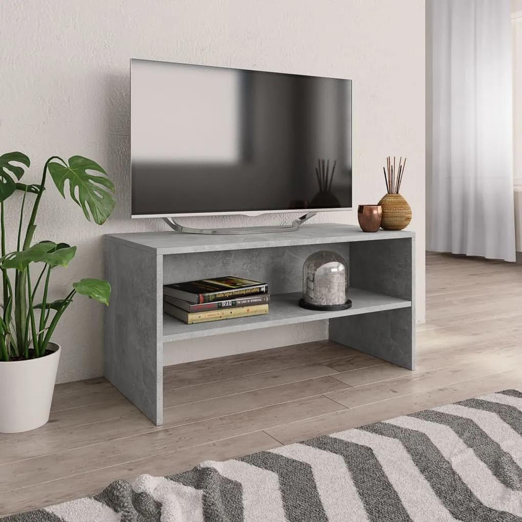 800058 vidaXL Comodă TV, gri beton, 80x40x40 cm, PAL