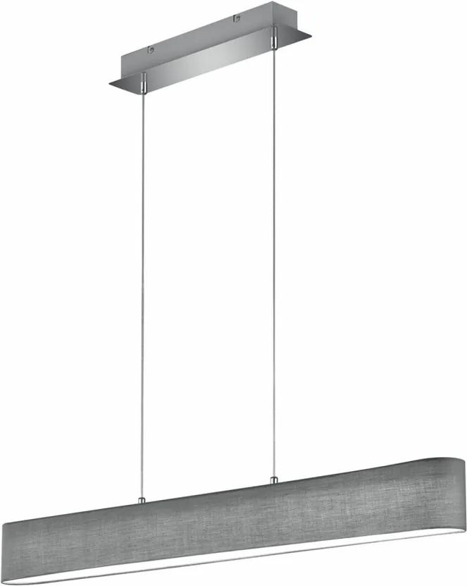 Lustra LED tip pendul LUGANO metal/material textil, gri, 1 bec, 230 V
