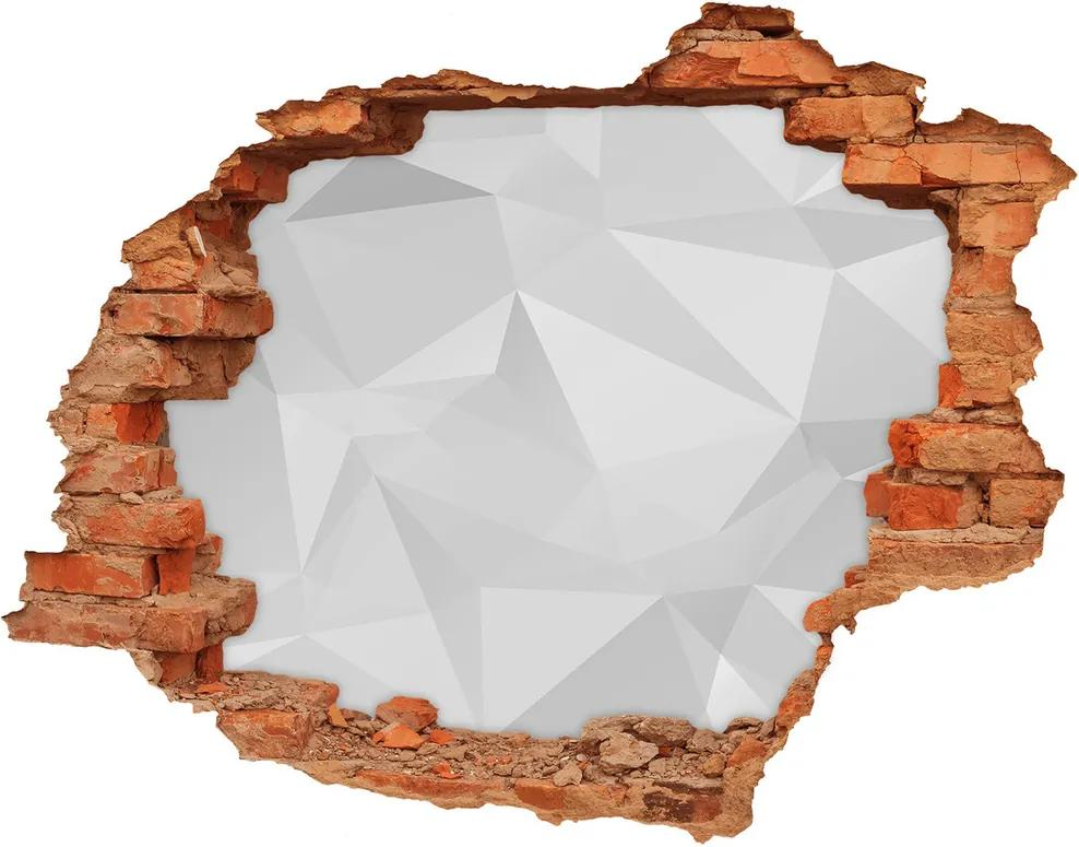 Autocolant un zid spart cu priveliște Triunghiuri abstractizare