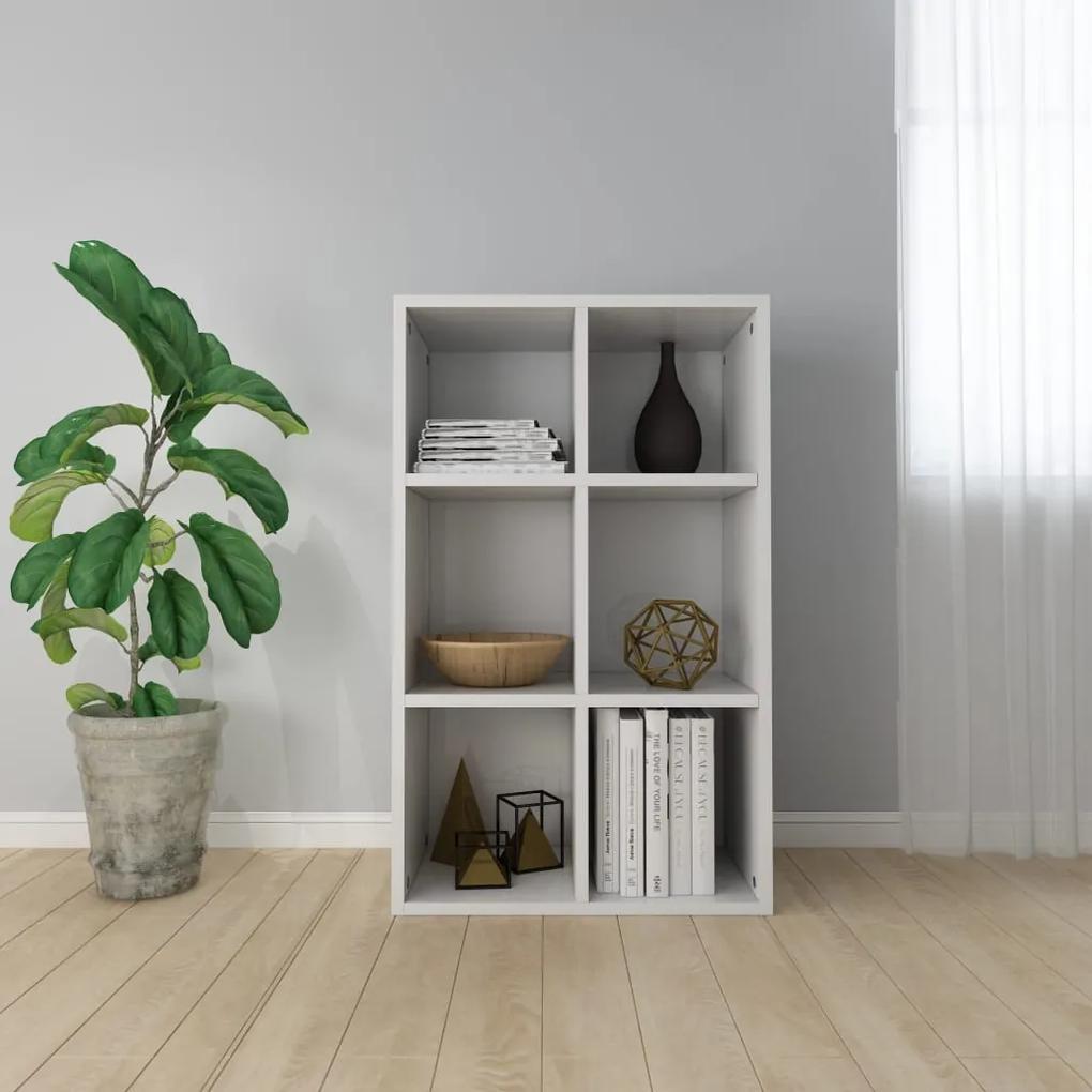 800348 vidaXL Bibliotecă/Servantă, alb extralucios, 66 x 30 x 97,8 cm, PAL