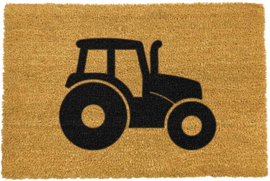 Covoraș intrare din fibre de cocos Artsy Doormats Tractor, 40 x 60 cm