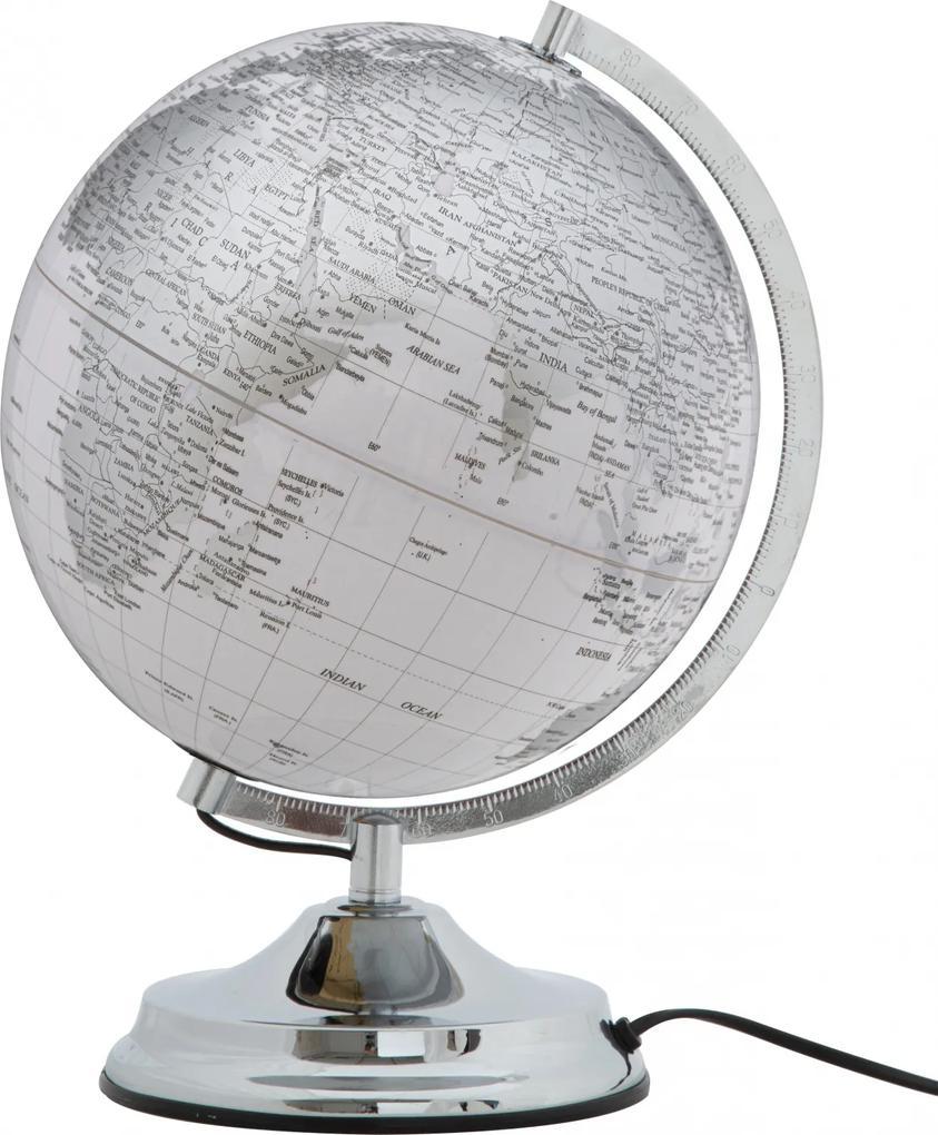 Glob pamantesc cu lumina White Glam Ø25x38 cm