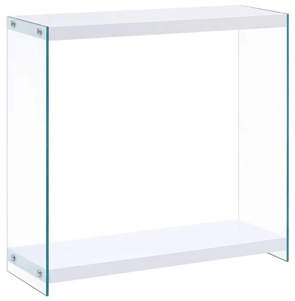 247304 vidaXL Masă consolă, alb, 80x29x75,5 cm, MDF