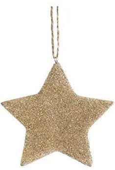 Ornament pentru bradul de Craciun stea aurie
