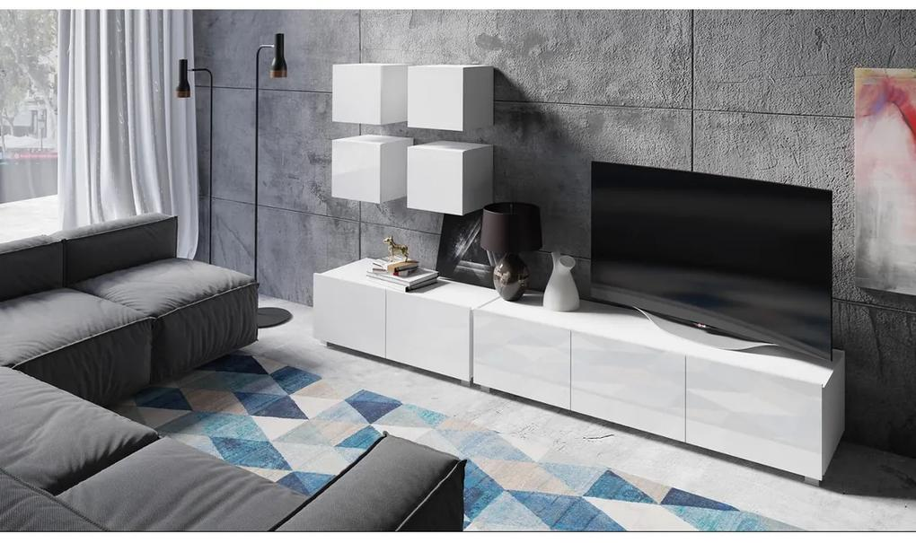 Expedo Mobilă sufragerie BRINICA NR 18, alb/alb luciu