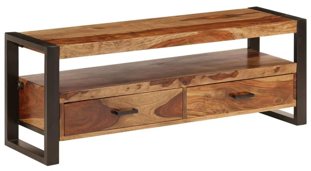 247403 vidaXL Comodă TV, 120 x 35 x 45 cm, lemn masiv de sheesham