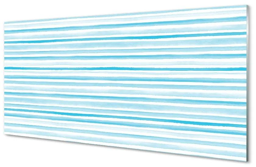 Tablouri pe sticlă dungi albastre