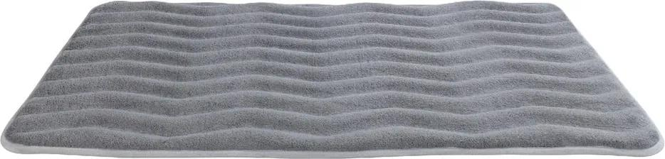 Covor de baie cu spumă de memorie Wenko Light Grey, 80 x 50 cm, gri deschis
