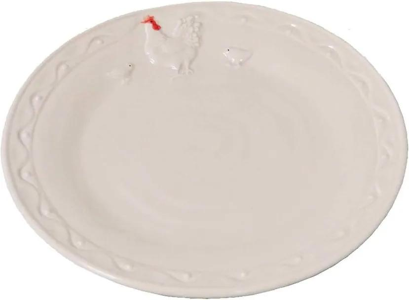 Farfurie din ceramică Antic Line Hen, ⌀ 21 cm, alb