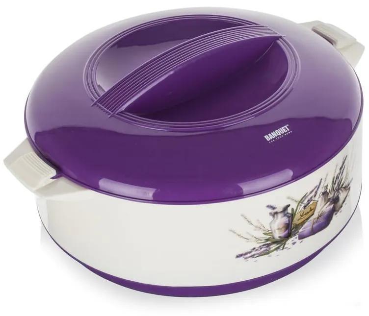 Bol termo cu capac Lavender, BANQUET 1,5 l