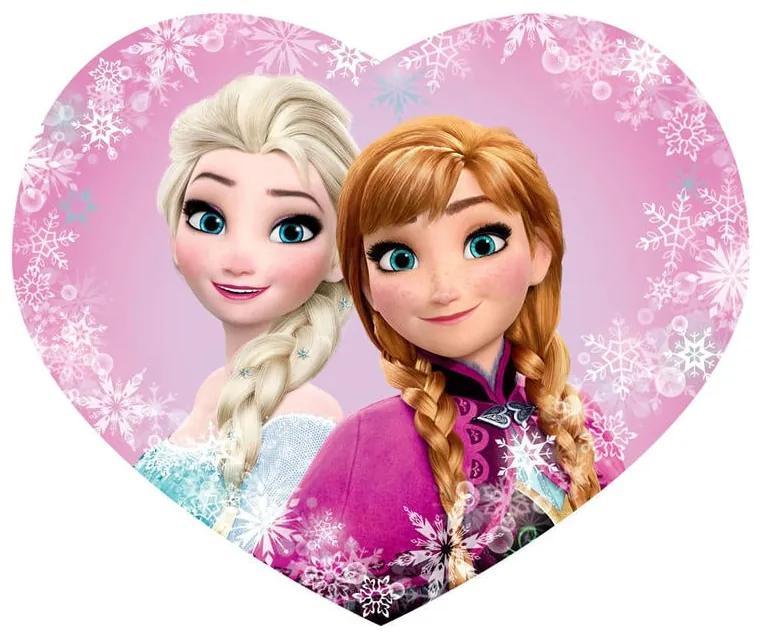 Pernă de copii profilată FROZEN Elsa şi Anna 31 x 24 cm