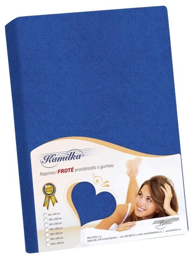 Cearşaf de pat Kamilka, albastru închis, 90 x 200 cm, 90 x 200 cm