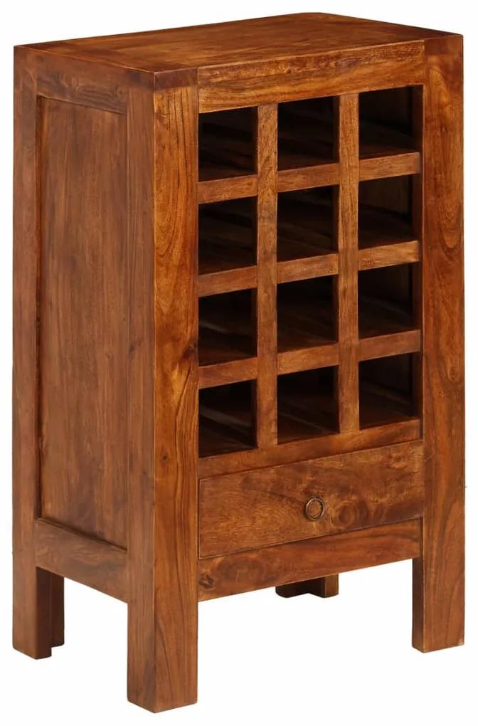 246104 vidaXL Suport sticle de vin, lemn masiv acacia, maro, 50x37x90 cm