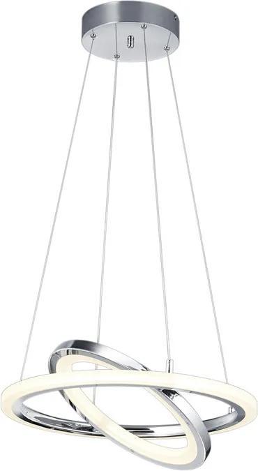 Trio 376013606 Pendule LED SATURN crom metal incl. 1 x SMD, 36W, 3000K, 3500Lm 3500lm 3000K IP20
