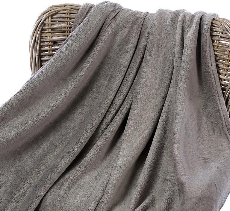 Goldea pătură din microfibră de calitate - gri 150 x 200 cm