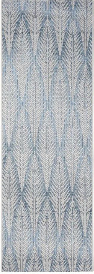 Covor de exterior Bougari Pella, 70 x 200 cm, gri - albastru