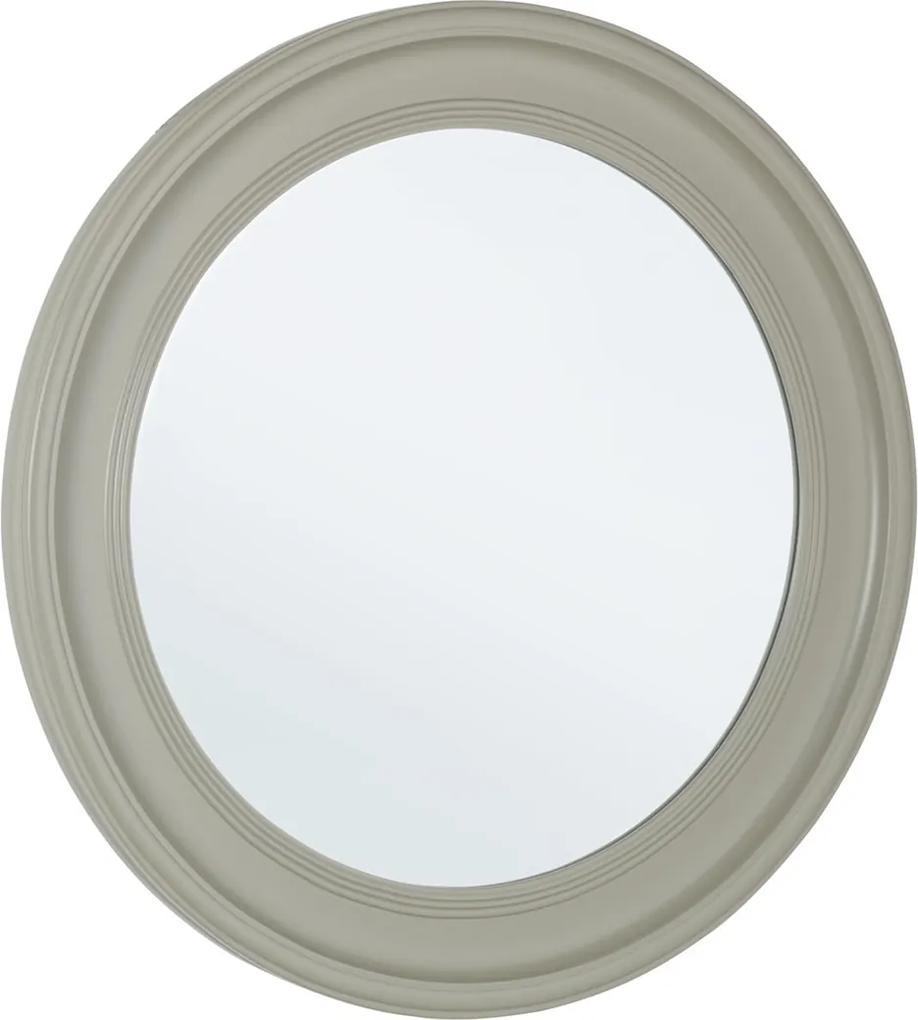 Oglinda decorativa perete cu rama rotunda lemn gri diametru 78 cm