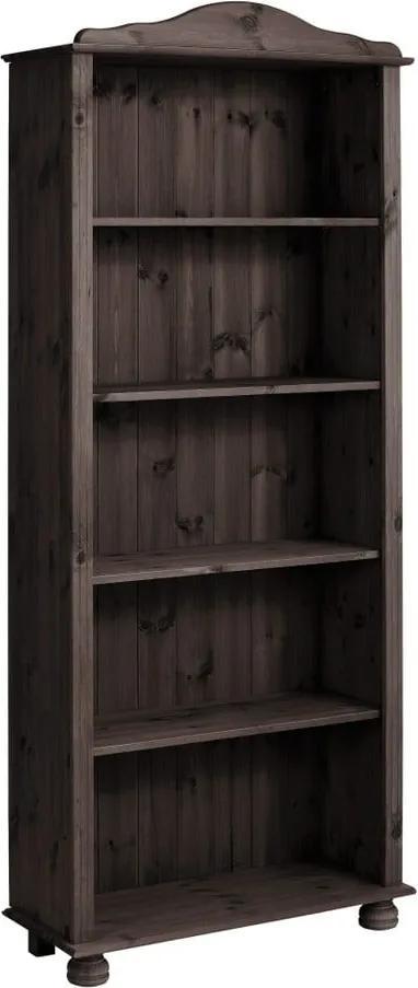 Bibliotecă din lemn de pin Støraa Ella, maro închis