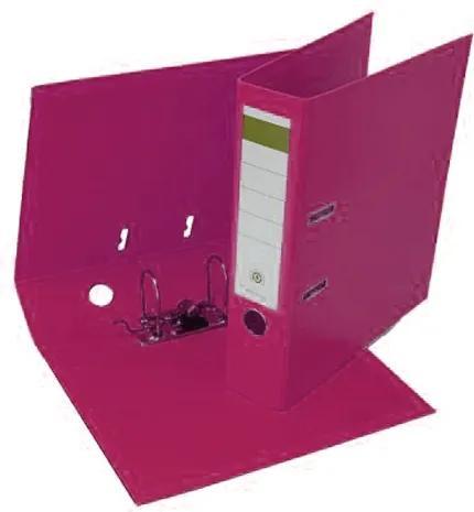 Biblioraft plastifiat PP/PP 8 cm roz
