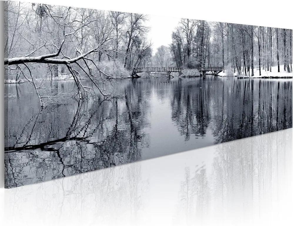 Tablou Bimago - Landscape: Winter 120x40 cm