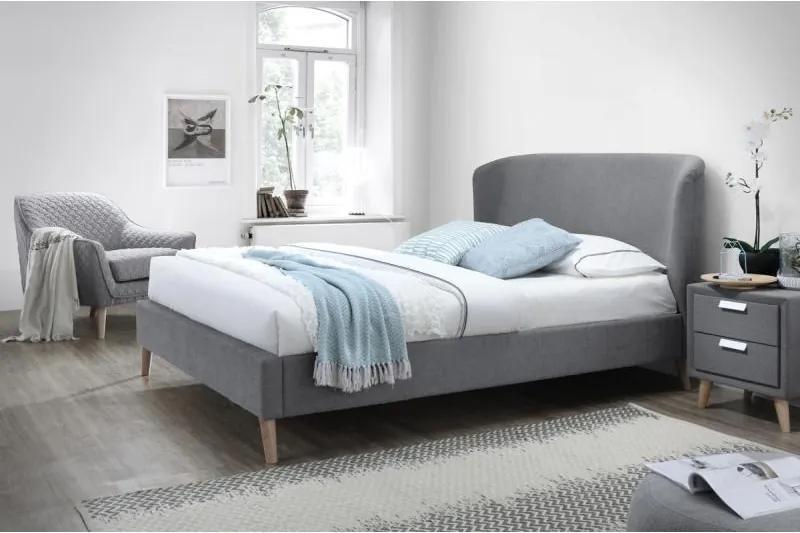 Pat dormitor gri Alexis Grey 160x200cm | PRIMERA COLLECTION