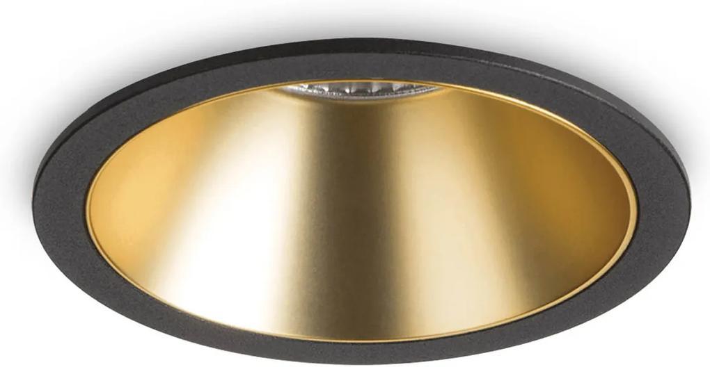 Spot-Incastrat-GAME-ROUND-BLACK-GOLD-192345-Ideal-Lux