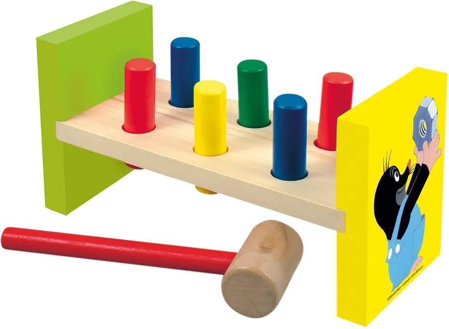 Bino Jucărie ciocan din lemn Cârtiţă