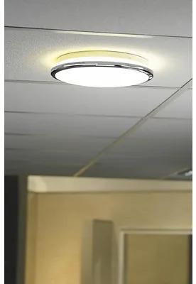 Plafoniera cu LED integrat Silver 18W 1620 lumeni, Ø33 cm, pentru baie IP44, crom