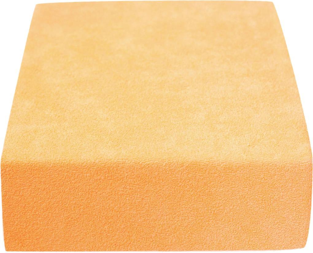Cearșaf terry, galben corny 160x200-cm