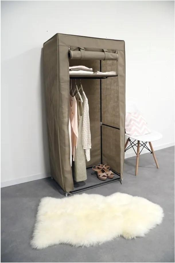 Dulap textil Compactor Wardrobe, înălțime 147 cm, bej