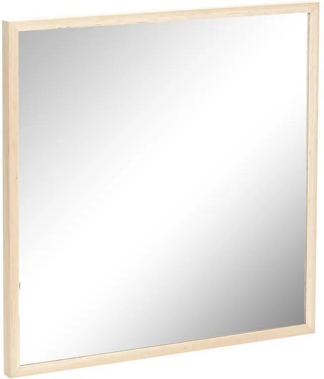 Oglinda Patrata cu Rama din Lemn - Lemn Natur Lungime 72 x latime 72 cm
