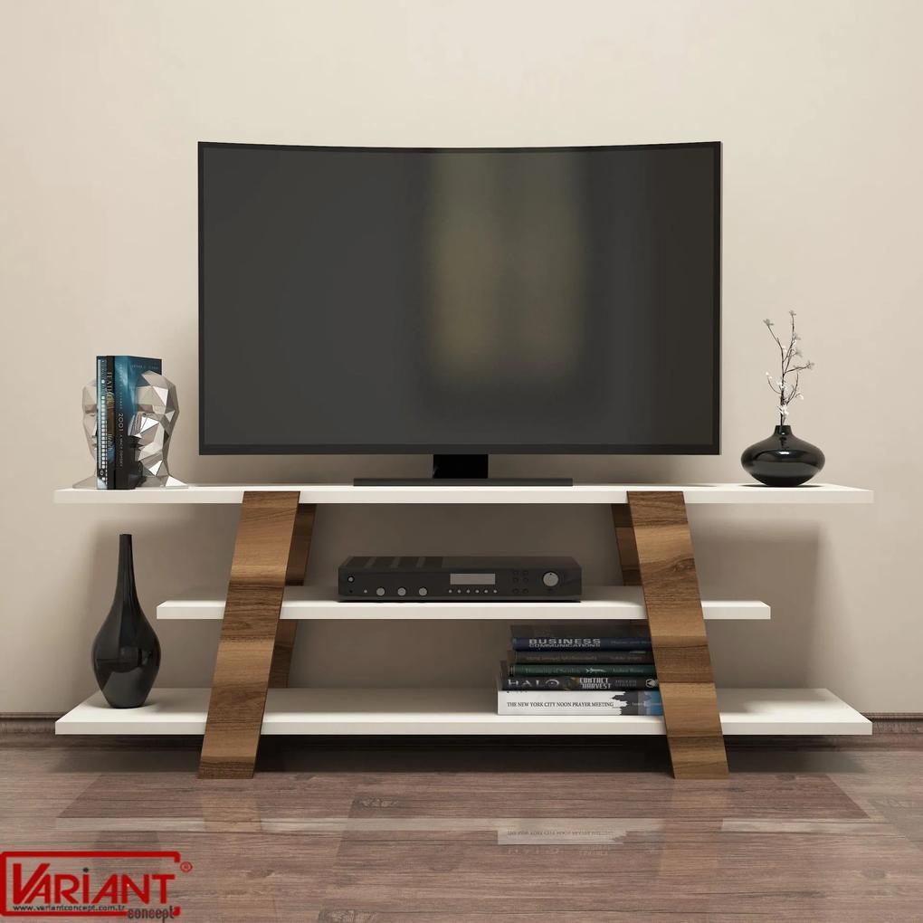 Comoda Tv Flower - Crem/Nuc