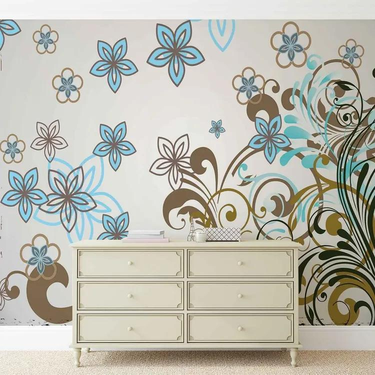 Floral Pattern Fototapet, (152.5 x 104 cm)