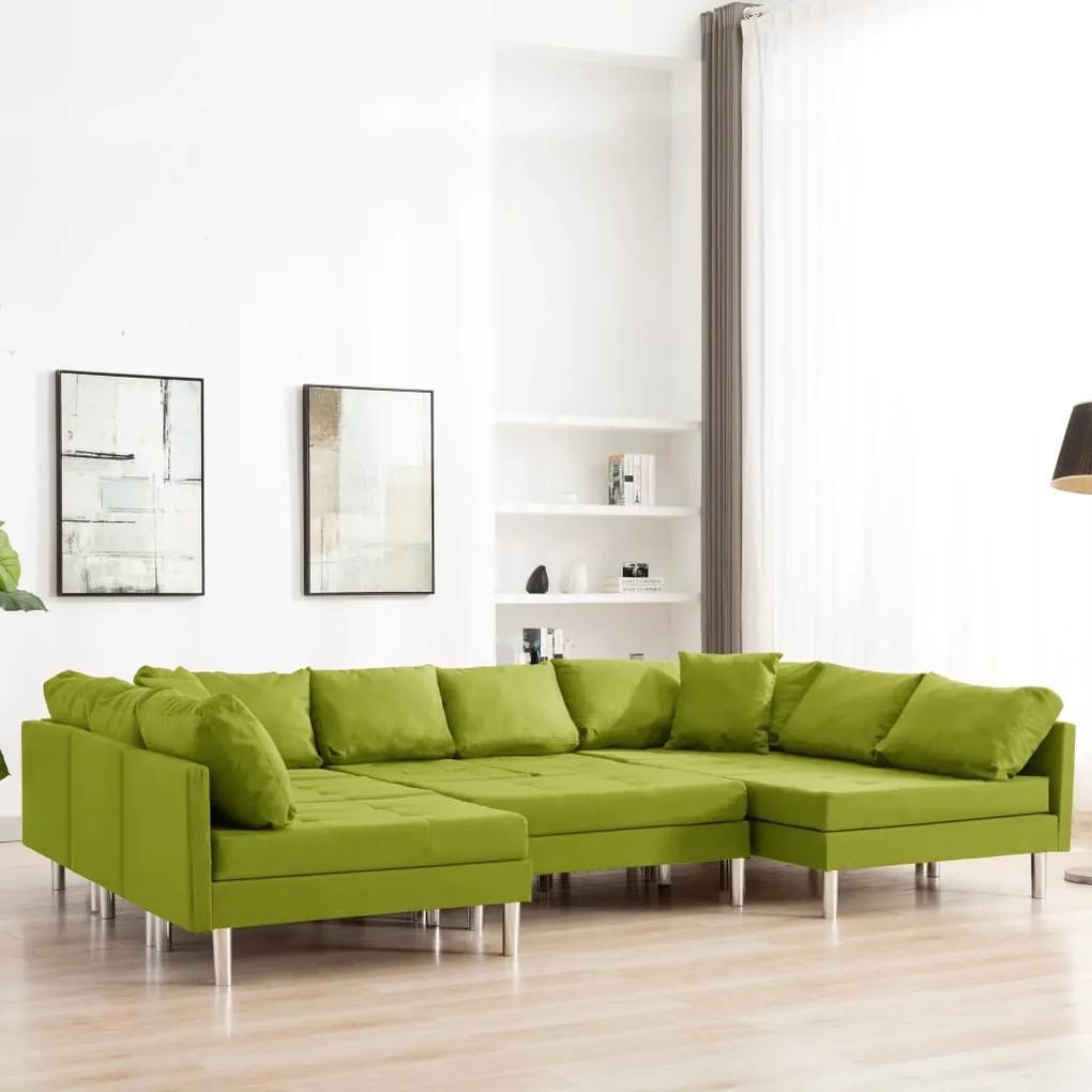 287209 vidaXL Canapea modulară, verde, material textil