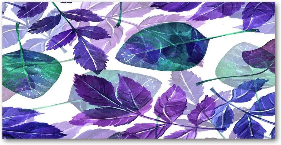 Tablou pe pe sticlă Frunze colorate