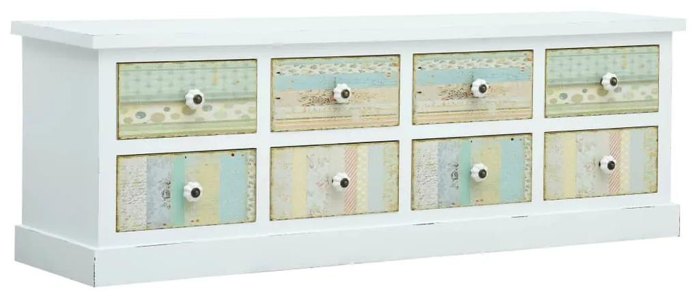 285761 vidaXL Comodă TV cu sertare, alb, 120 x 30 x 40 cm, MDF