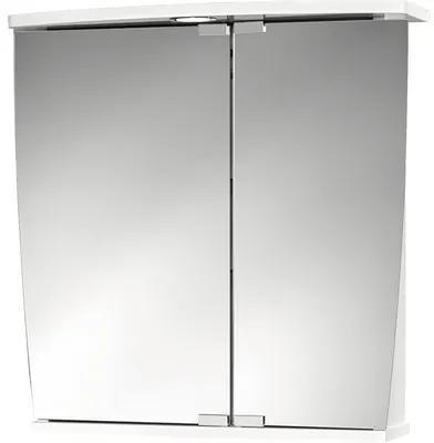 Dulap cu oglinda Jokey Numa, iluminare LED, 58x59,5 cm, alb, IP 20
