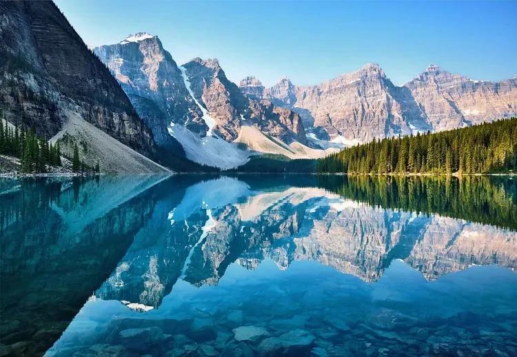 Mountain Mirror Fototapet, (416 x 290 cm)