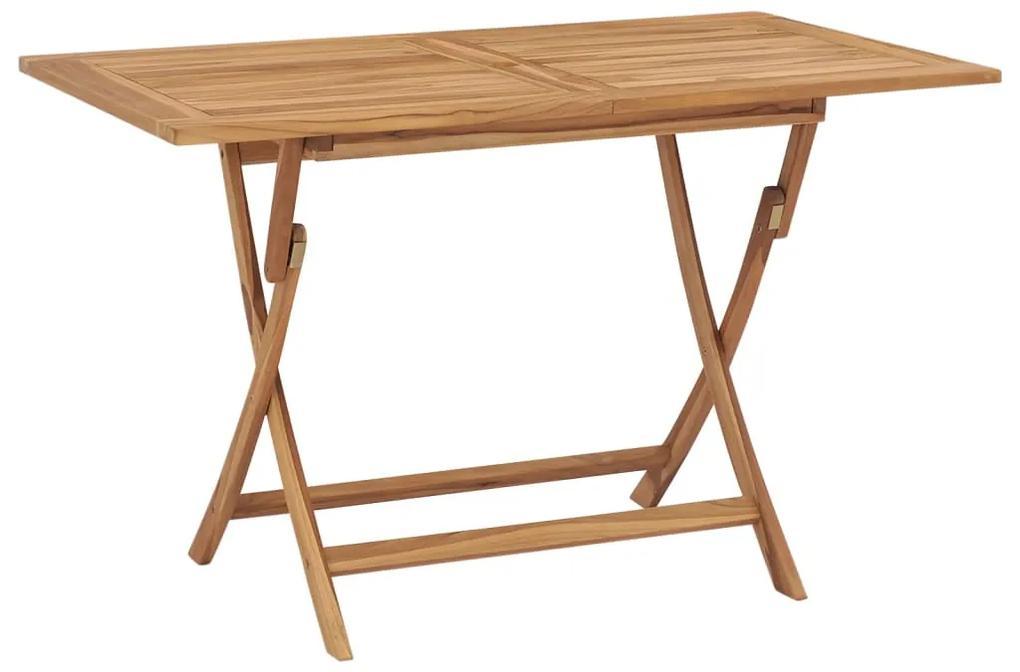 44682 vidaXL Masă de grădină pliabilă, 120 x 70 x 75 cm, lemn de tec