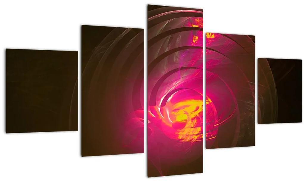 Tablou - abstacție cu spirala (125x70 cm), în 40 de alte dimensiuni noi