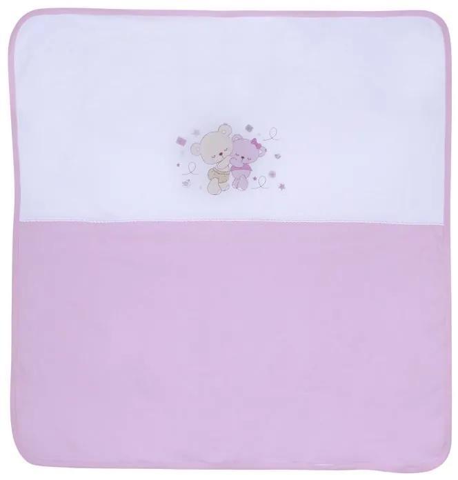 Lorelli Paturica Bumbac 90x90 cm ZA ZA Pink