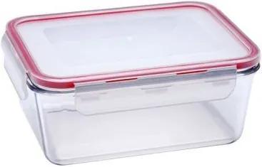 Caserola dreptunghiulara din sticla termorezistenta, 1.9 Litri, capac plastic