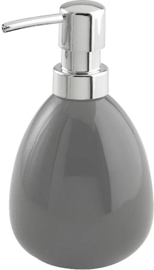 Dozator din ceramică pentru săpun lichid Wenko Polaris, gri