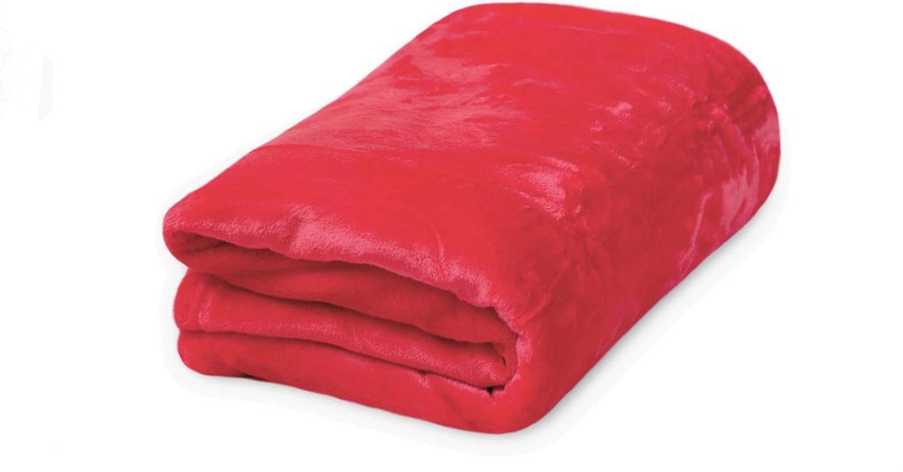 Pătură microflanel 150x200 cm roșu